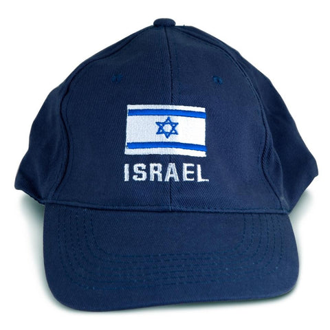 Israel Flag Cap, Navy Blue