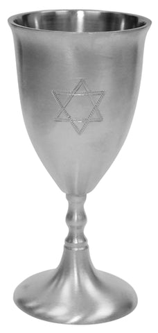 Pewter Kiddush Cup - Star of David