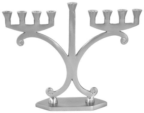 Hanukkah Menorah - Aluminum/Pewter   *While Supplies Last*