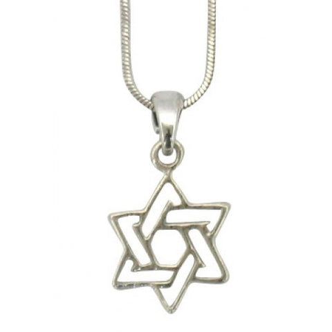 Necklace - Rhodium Star of David