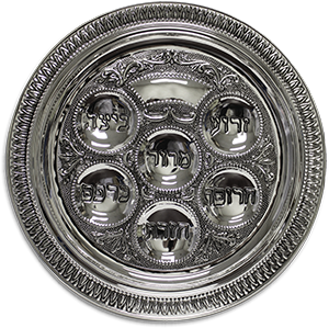 Seder Plate - Silver Ornate 12-inch *While Supplies Last*