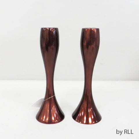 "7"" Contemporary Copper Candlesticks"