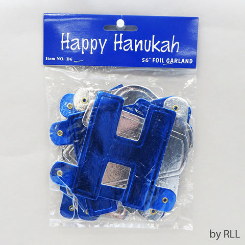 """HAPPY HANUKAH"" Foil Banner Decoration"