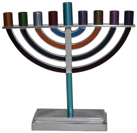 Emanuel Small Classic Multi-Colored Hanukkah Menorah