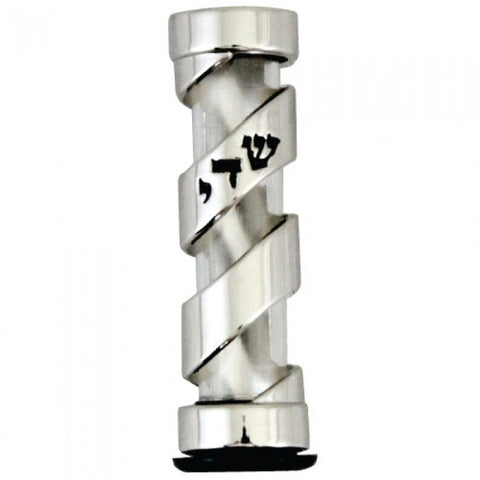 Spiral Car Mezuzah Case with Shaddai