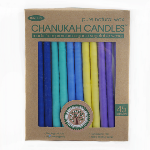 "Hanukkah Candles ""Organic Vegetable Wax"""