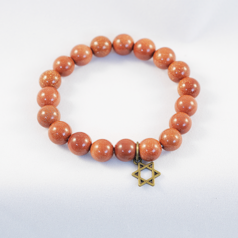 Bracelet - Copper Tone and Star of David Pendant