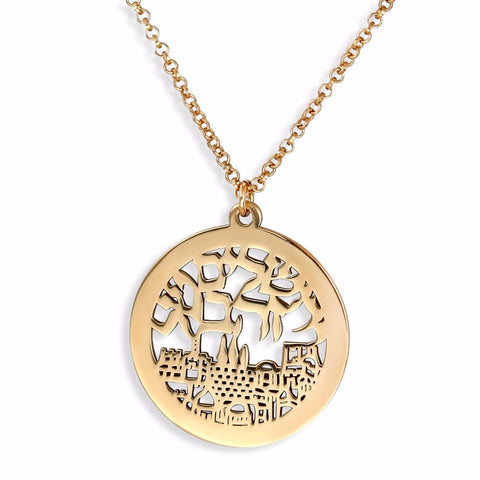 Necklace - Jerusalem City of Gold - 24K Gold Plated