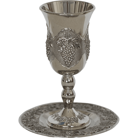 Grapevine Kiddush Cup - Silver