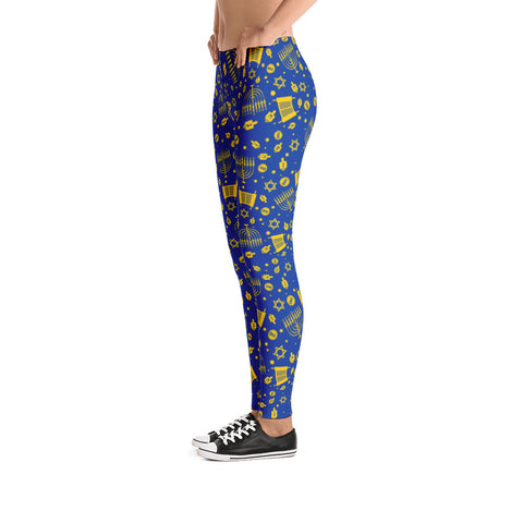 Blue Hanukkah Leggings!