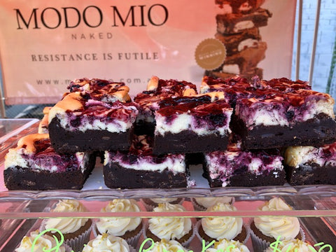 3 Berry Cheesecake Brownies - Quinoa - free from gluten