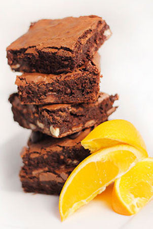 Dark Orange Brownies - Free from Gluten!
