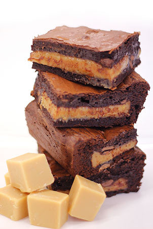 Quinoa - Salted Caramel Fudge Brownies - FREE from GLUTEN!