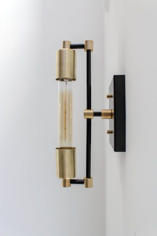 Electric T Banker's Sconce