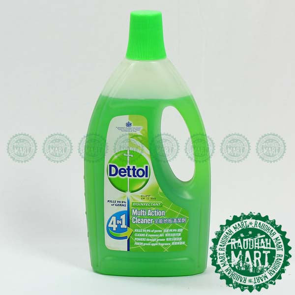 Dettol 4IN1  Cleaner Green Apple 1.5L