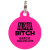 Fuchsia Alpha Bitch Funny Pet ID Tag