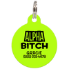 Lime Alpha Bitch Funny Pet ID Tag