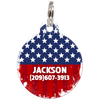 American Flag Patriotic Dog ID Tag for Dog