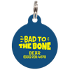 Navy Bad to the Bone Funny Pet ID Tag