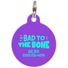 Purple Bad to the Bone Funny Pet ID Tag