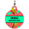 Green Bananas Personalized Dog ID Tag for Pets