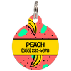 Yellow Bananas Personalized Dog ID Tag for Pets