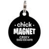 Black Chick Magnet Funny Pet ID Tag