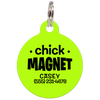 Lime Chick Magnet Funny Pet ID Tag