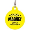 Yellow Chick Magnet Funny Pet ID Tag
