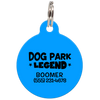 Blue Dog Park Legend Funny Dog ID Tag for Pets