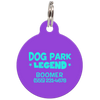 Purple Dog Park Legend Funny Dog ID Tag for Pets