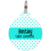 Aqua Dots Pattern Personalized Dog ID Tag for Pets