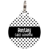 Black Dots Pattern Personalized Dog ID Tag for Pets