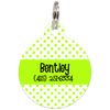 Lime Dots Pattern Personalized Dog ID Tag for Pets