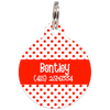 Red Dots Pattern Personalized Dog ID Tag for Pets