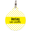 Yellow Dots Pattern Personalized Dog ID Tag for Pets