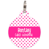 Fuchsia Dots Pattern Personalized Dog ID Tag for Pets