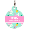 Pink Flamingos Personalized Dog ID Tag for Pets