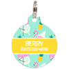 Yellow Flamingos Personalized Dog ID Tag for Pets