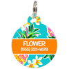 Orange Hawaii Personalized Dog ID Tag for Pets