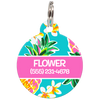 Pink Hawaii Personalized Dog ID Tag for Pets
