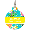 Yellow Hawaii Personalized Dog ID Tag for Pets