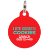 Red I Ate Santa's Cookies Funny Dog ID Tag for Pets