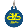 Navy I'm Lost Call Dad Funny Pet ID Tag