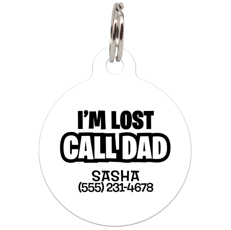 funny dog tag for pets