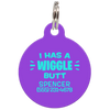 Purple I Has A Wiggle Butt Funny Pet ID Tag