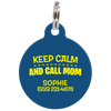 Navy Keep Calm And Call Mom | Funny Dog ID Tag for Pets