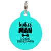 Aqua Ladies' Man Funny Dog ID Tag