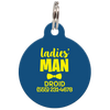 Navy Ladies' Man Funny Dog ID Tag