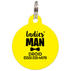 Yellow Ladies' Man Funny Pet ID Tag